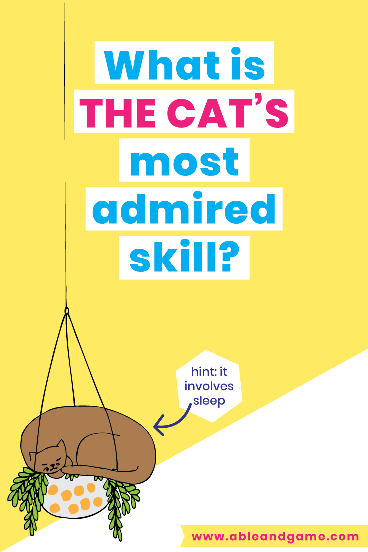 What Is The Cats Most Admired Skill? From I Touched A Cat And I Liked It - The Ultimate Book For Cat Lovers By Anna Blandford Funny Cat Book